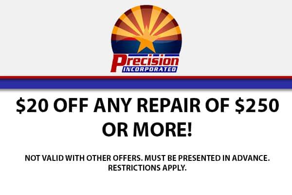 $20 Off Any Repair of $250 or More!